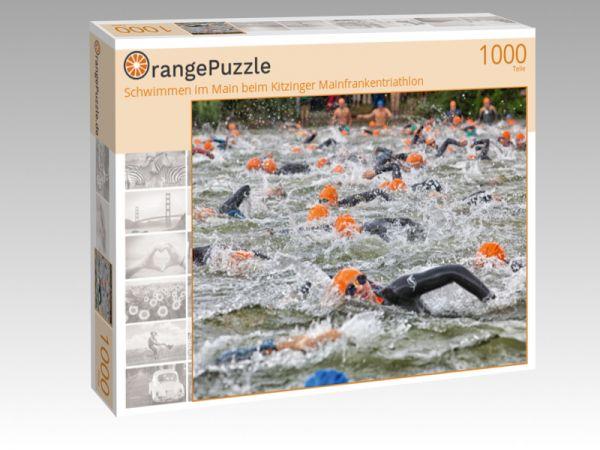 """Puzzle Motiv """"Schwimmen im Main beim Kitzinger Mainfrankentriathlon"""" - Puzzle-Schachtel zu 1000 Teile Puzzle"""