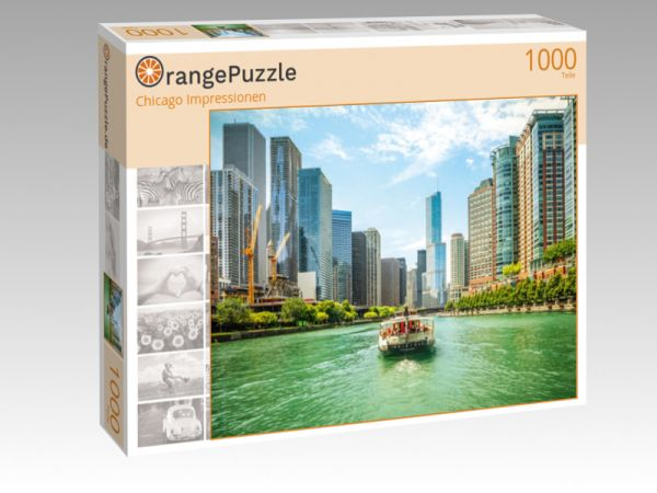"Puzzle Motiv ""Chicago Impressionen"" - Puzzle-Schachtel zu 1000 Teile Puzzle"
