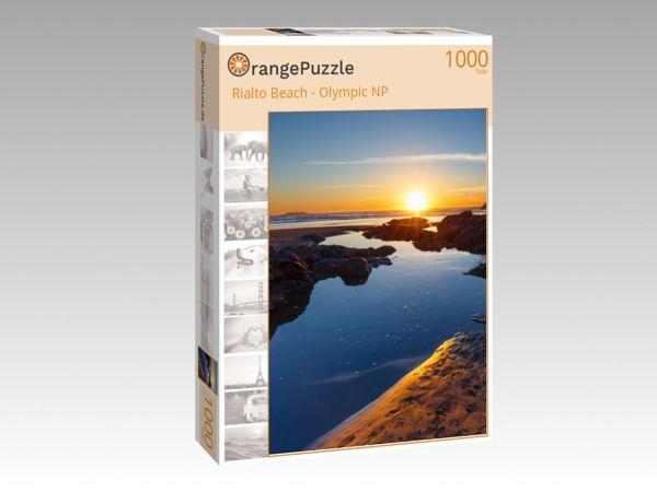 """Puzzle Motiv """"Rialto Beach - Olympic NP"""" - Puzzle-Schachtel zu 1000 Teile Puzzle"""