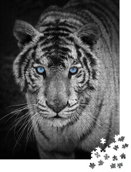 """Puzzle-Motiv """"weißer Tiger"""" - Puzzle-Schachtel zu 1000 Teile Puzzle"""