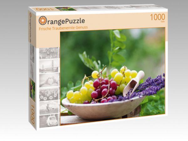 """Puzzle Motiv """"Frische Traubenernte Genuss"""" - Puzzle-Schachtel zu 1000 Teile Puzzle"""