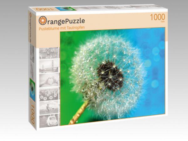 "Puzzle Motiv ""Pusteblume mit Tautropfen"" - Puzzle-Schachtel zu 1000 Teile Puzzle"
