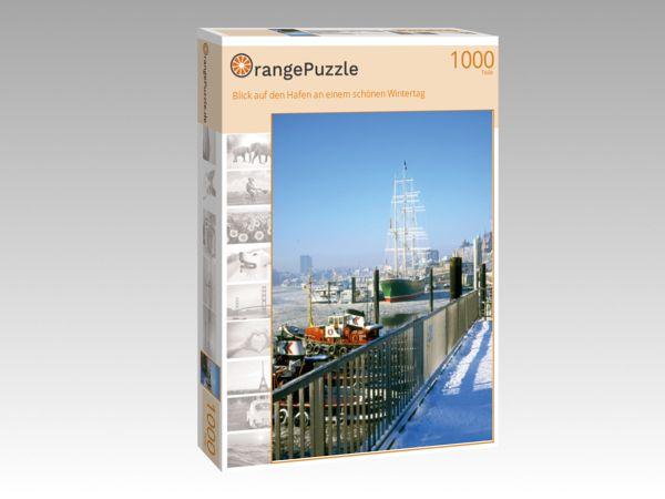 """Puzzle Motiv """"Blick auf den Hafen an einem schönen Wintertag"""" - Puzzle-Schachtel zu 1000 Teile Puzzle"""