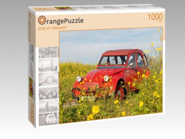 "Puzzle Motiv ""Ente im Glebsenf"" - Puzzle-Schachtel zu 1000 Teile Puzzle"