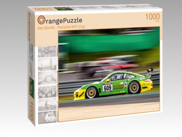 """Puzzle Motiv """"Sex Bomb - Porsche 997 Cup"""" - Puzzle-Schachtel zu 1000 Teile Puzzle"""