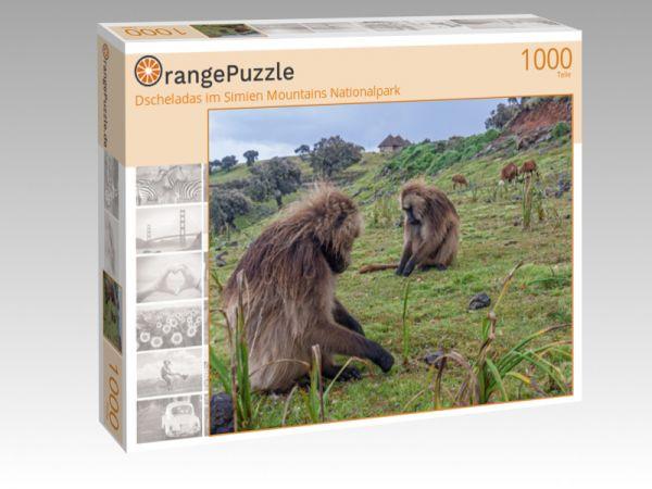 """Puzzle Motiv """"Dscheladas im Simien Mountains Nationalpark"""" - Puzzle-Schachtel zu 1000 Teile Puzzle"""
