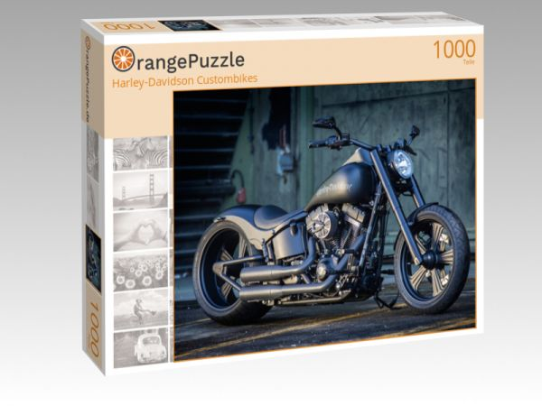 "Puzzle Motiv ""Harley-Davidson Custombikes"" - Puzzle-Schachtel zu 1000 Teile Puzzle"