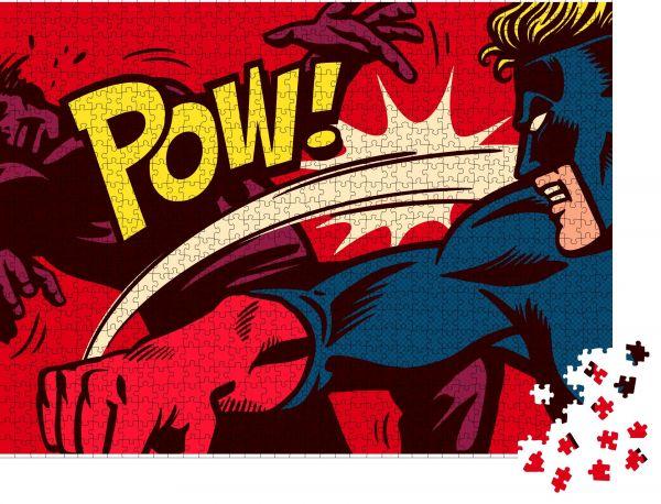 """Puzzle-Motiv """"Pop Art Comic-Panel im Comic-Stil mit Superhelden-Kämpfen"""" - Puzzle-Teile zu 1000 Teile Puzzle"""