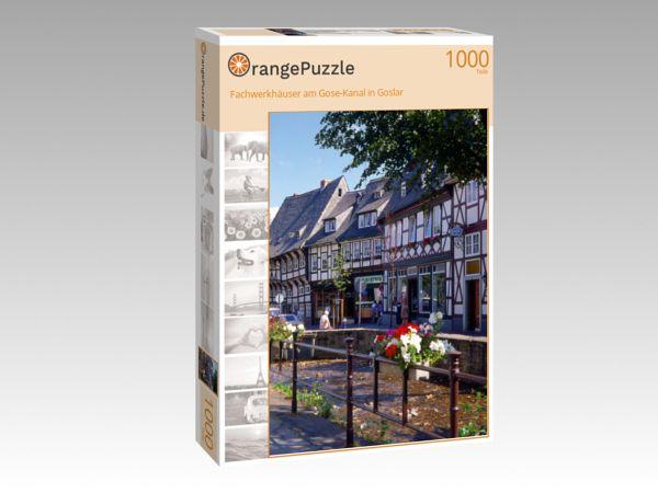 """Puzzle Motiv """"Fachwerkhäuser am Gose-Kanal in Goslar"""" - Puzzle-Schachtel zu 1000 Teile Puzzle"""