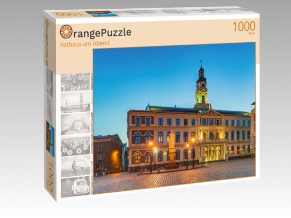 """Puzzle Motiv """"Rathaus am Abend"""" - Puzzle-Schachtel zu 1000 Teile Puzzle"""