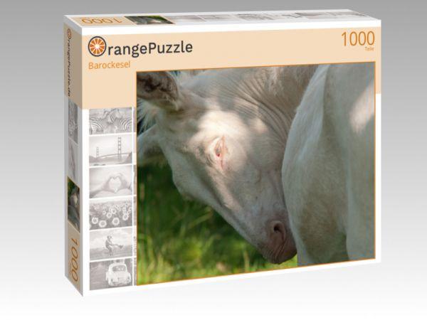 """Puzzle Motiv """"Barockesel"""" - Puzzle-Schachtel zu 1000 Teile Puzzle"""