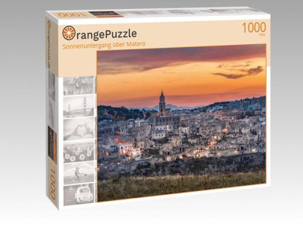 "Puzzle Motiv ""Sonnenuntergang über Matera"" - Puzzle-Schachtel zu 1000 Teile Puzzle"