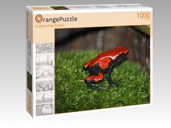"""Puzzle Motiv """"Erdbeerfröschchen"""" - Puzzle-Schachtel zu 1000 Teile Puzzle"""