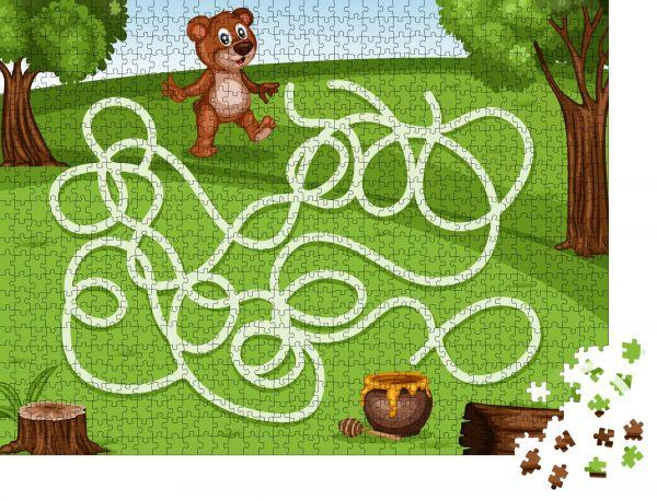 """Puzzle-Motiv """"Labyrinthspiel Hilf dem kleinen Bären, den Honig reich zu machen"""" - Puzzle-Teile zu 1000 Teile Puzzle"""
