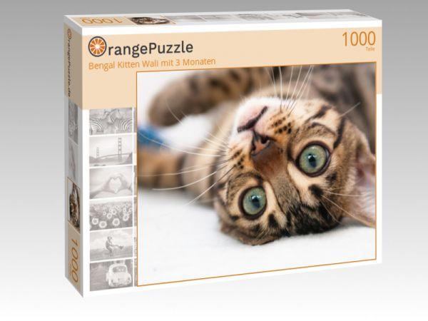 "Puzzle Motiv ""Bengal Kitten Wali mit 3 Monaten"" - Puzzle-Schachtel zu 1000 Teile Puzzle"