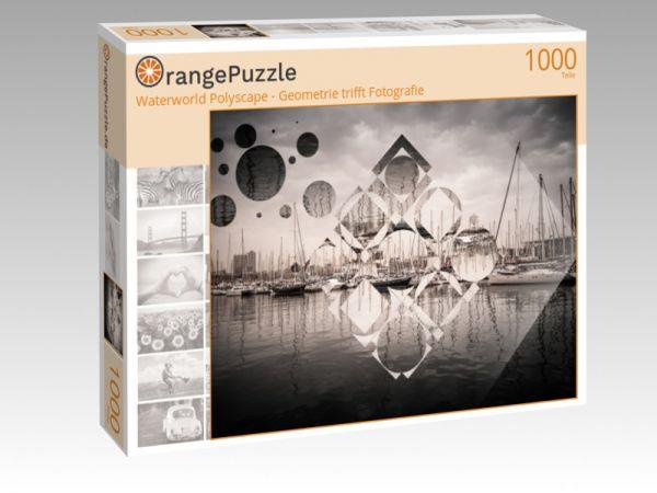 """Puzzle Motiv """"Waterworld Polyscape - Geometrie trifft Fotografie"""" - Puzzle-Schachtel zu 1000 Teile Puzzle"""