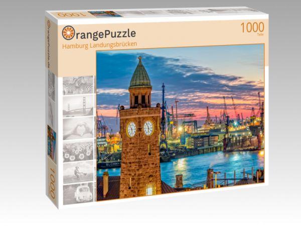 """Puzzle Motiv """"Hamburg Landungsbrücken"""" - Puzzle-Schachtel zu 1000 Teile Puzzle"""