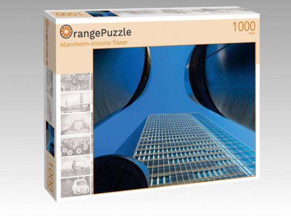 "Puzzle Motiv ""Mannheim-Victoria-Tower"" - Puzzle-Schachtel zu 1000 Teile Puzzle"