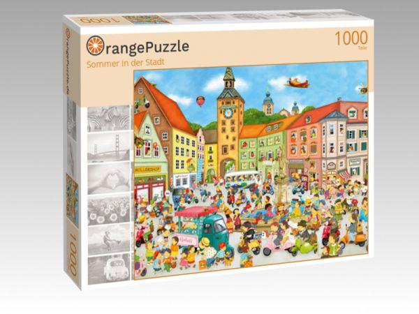 """Puzzle Motiv """"Sommer in der Stadt"""" - Puzzle-Schachtel zu 1000 Teile Puzzle"""