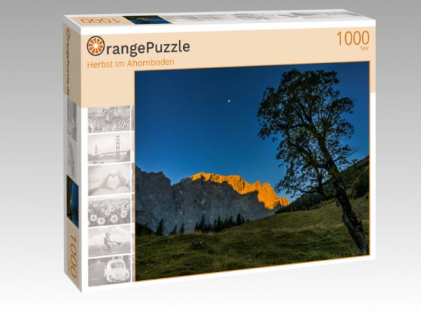 """Puzzle Motiv """"Herbst im Ahornboden"""" - Puzzle-Schachtel zu 1000 Teile Puzzle"""