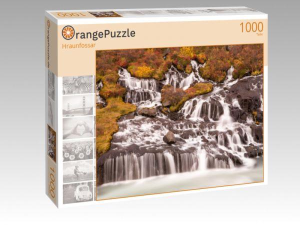 "Puzzle Motiv ""Hraunfossar"" - Puzzle-Schachtel zu 1000 Teile Puzzle"