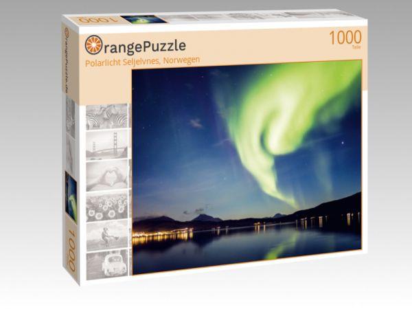 """Puzzle Motiv """"Polarlicht Seljelvnes, Norwegen"""" - Puzzle-Schachtel zu 1000 Teile Puzzle"""