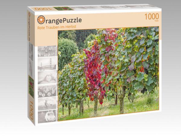"""Puzzle Motiv """"Rote Trauben im Herbst"""" - Puzzle-Schachtel zu 1000 Teile Puzzle"""