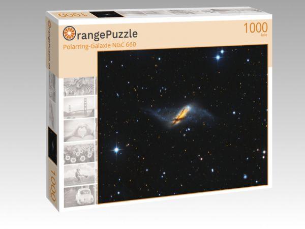 """Puzzle Motiv """"Polarring-Galaxie NGC 660"""" - Puzzle-Schachtel zu 1000 Teile Puzzle"""