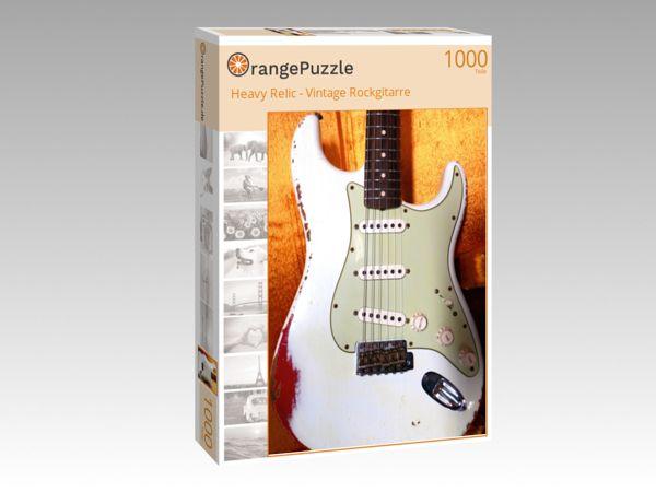 """Puzzle Motiv """"Heavy Relic - Vintage Rockgitarre"""" - Puzzle-Schachtel zu 1000 Teile Puzzle"""