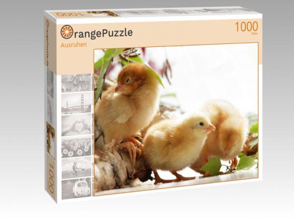 """Puzzle Motiv """"Ausruhen"""" - Puzzle-Schachtel zu 1000 Teile Puzzle"""