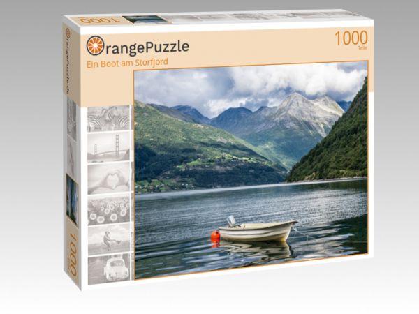 """Puzzle Motiv """"Ein Boot am Storfjord"""" - Puzzle-Schachtel zu 1000 Teile Puzzle"""