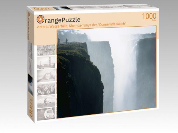 """Puzzle Motiv """"Victoria Wasserfälle, Mosi-oa-Tunya der """"Donnernde Rauch"""""""" - Puzzle-Schachtel zu 1000 Teile Puzzle"""