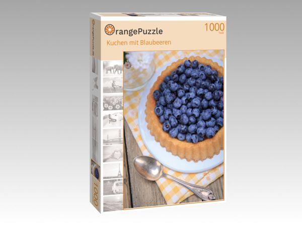 """Puzzle Motiv """"Kuchen mit Blaubeeren"""" - Puzzle-Schachtel zu 1000 Teile Puzzle"""