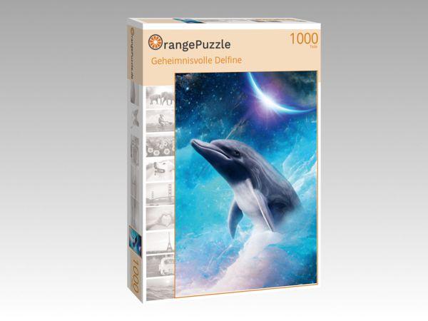 """Puzzle Motiv """"Geheimnisvolle Delfine"""" - Puzzle-Schachtel zu 1000 Teile Puzzle"""