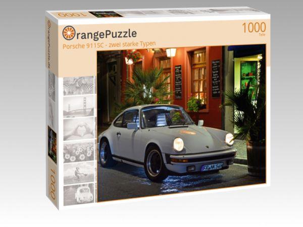 """Puzzle Motiv """"Porsche 911SC - zwei starke Typen"""" - Puzzle-Schachtel zu 1000 Teile Puzzle"""