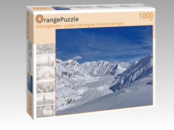 """Puzzle Motiv """"Aletschgletscher - größter und längster Gletscher der Alpen"""" - Puzzle-Schachtel zu 1000 Teile Puzzle"""