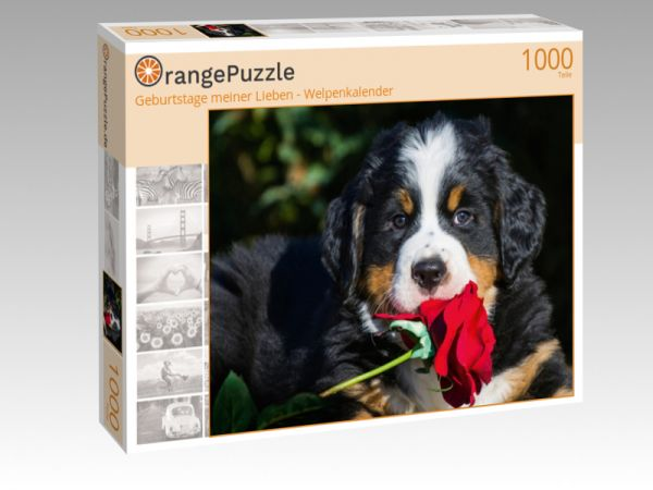 """Puzzle Motiv """"Geburtstage meiner Lieben - Welpenkalender"""" - Puzzle-Schachtel zu 1000 Teile Puzzle"""