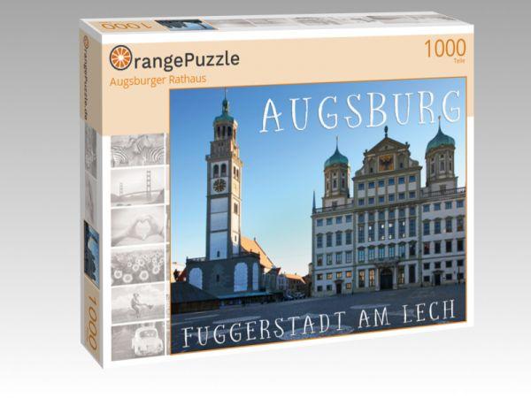 """Puzzle Motiv """"Augsburger Rathaus"""" - Puzzle-Schachtel zu 1000 Teile Puzzle"""