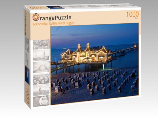 """Puzzle Motiv """"Seebrücke, Sellin, Insel Rügen"""" - Puzzle-Schachtel zu 1000 Teile Puzzle"""