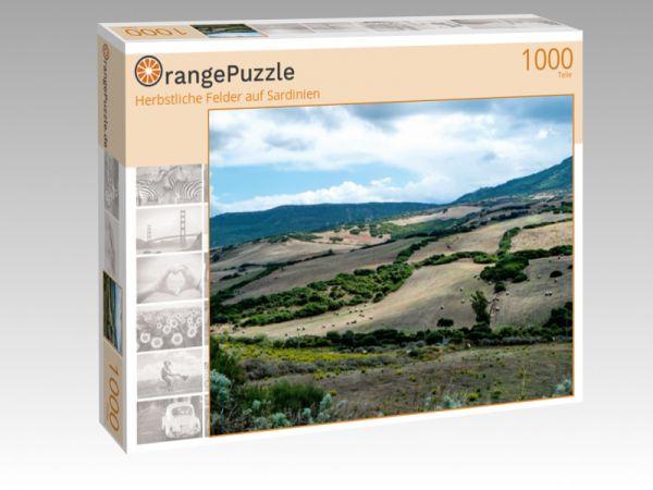 """Puzzle Motiv """"Herbstliche Felder auf Sardinien"""" - Puzzle-Schachtel zu 1000 Teile Puzzle"""