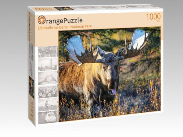 """Puzzle Motiv """"Elchbulle im Denali National Park"""" - Puzzle-Schachtel zu 1000 Teile Puzzle"""