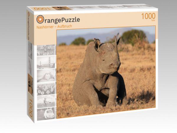 """Puzzle Motiv """"Nashörner – Aufbruch"""" - Puzzle-Schachtel zu 1000 Teile Puzzle"""