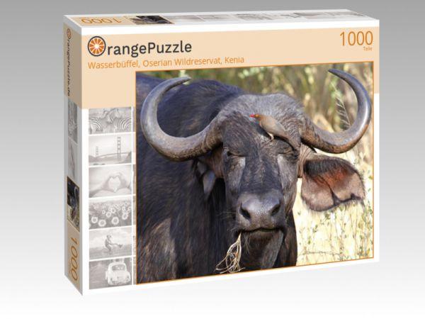 """Puzzle Motiv """"Wasserbüffel, Oserian Wildreservat, Kenia"""" - Puzzle-Schachtel zu 1000 Teile Puzzle"""