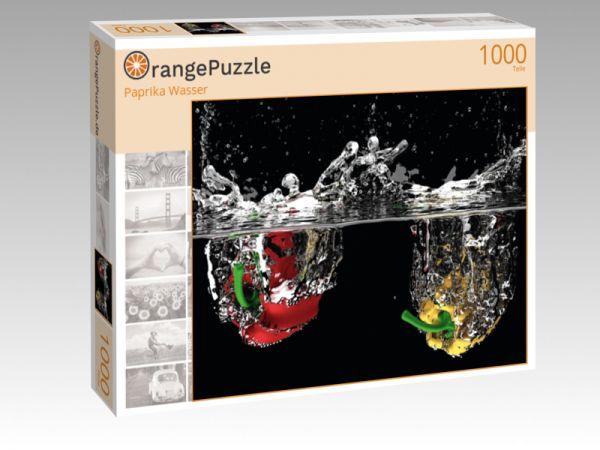 """Puzzle Motiv """"Paprika Wasser"""" - Puzzle-Schachtel zu 1000 Teile Puzzle"""