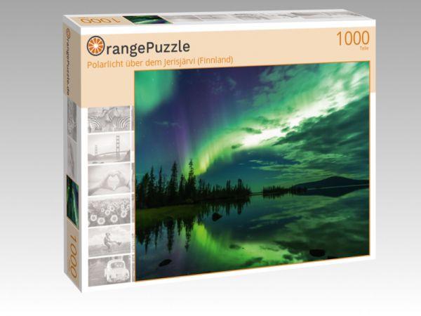 """Puzzle Motiv """"Polarlicht über dem Jerisjärvi (Finnland)"""" - Puzzle-Schachtel zu 1000 Teile Puzzle"""