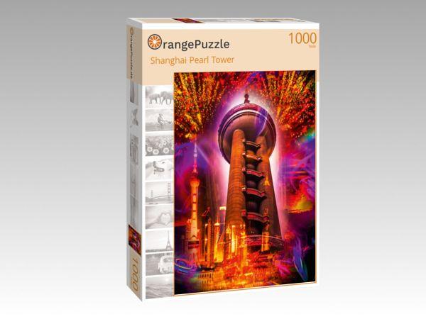 """Puzzle Motiv """"Shanghai Pearl Tower"""" - Puzzle-Schachtel zu 1000 Teile Puzzle"""